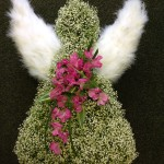 Funeral angel floral arrangement