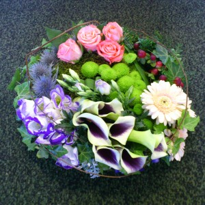 Mix funeral posy