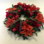 Mix funeral wreath