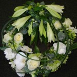 White mix wreath