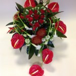 Rose & anthurium heart